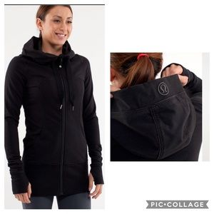 Lululemon Black Live Simply Hoodie Jacket size 8